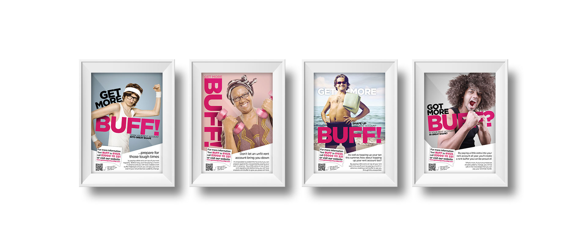 Get More Buff Campaign Poster Series, The Guinness Partnership | Our work - Astwood Design