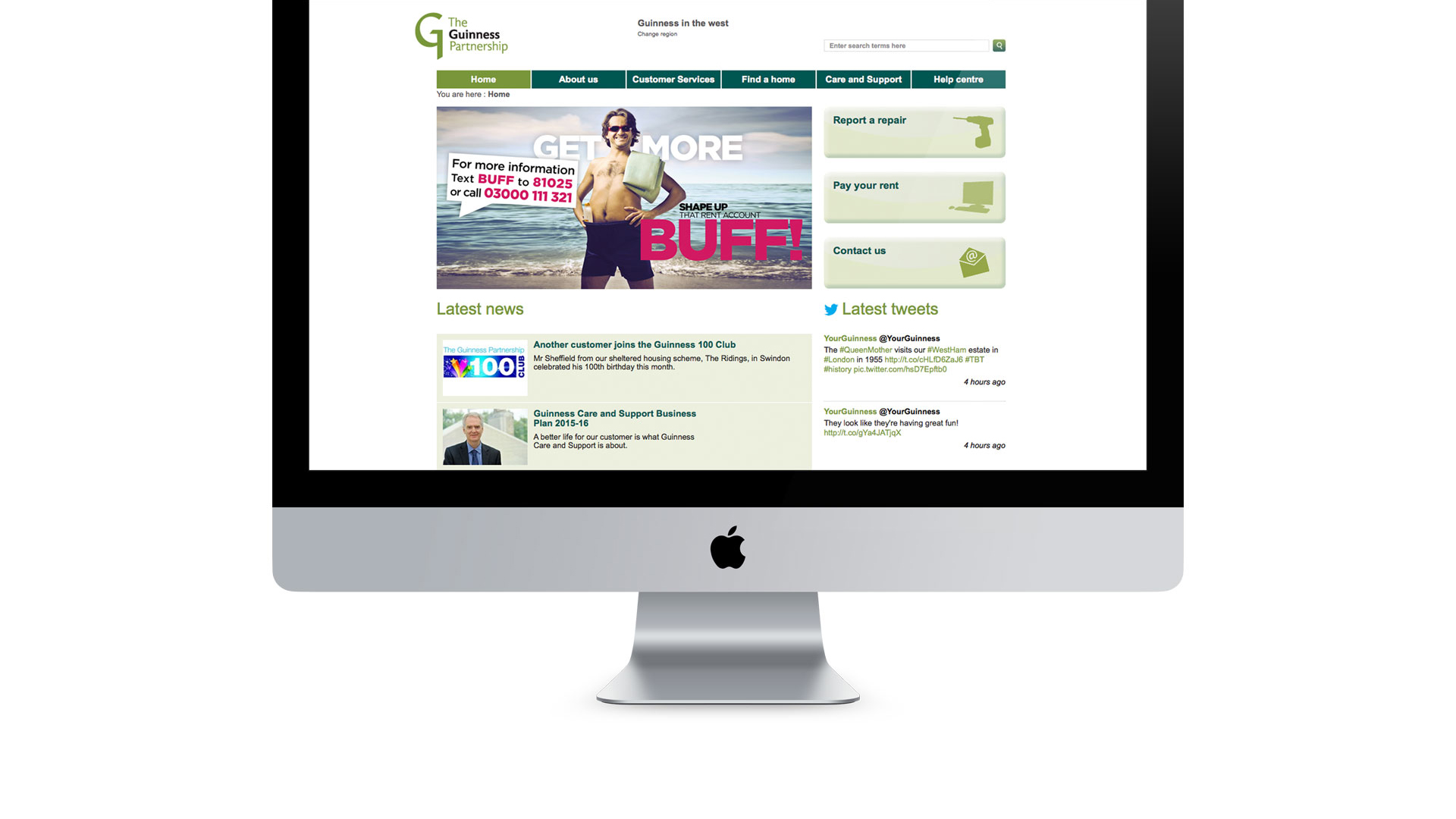 Get More Buff Web banner, The Guinness Partnership | Our work - Astwood Design